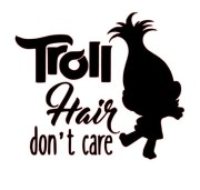 svg file - troll hair don't care