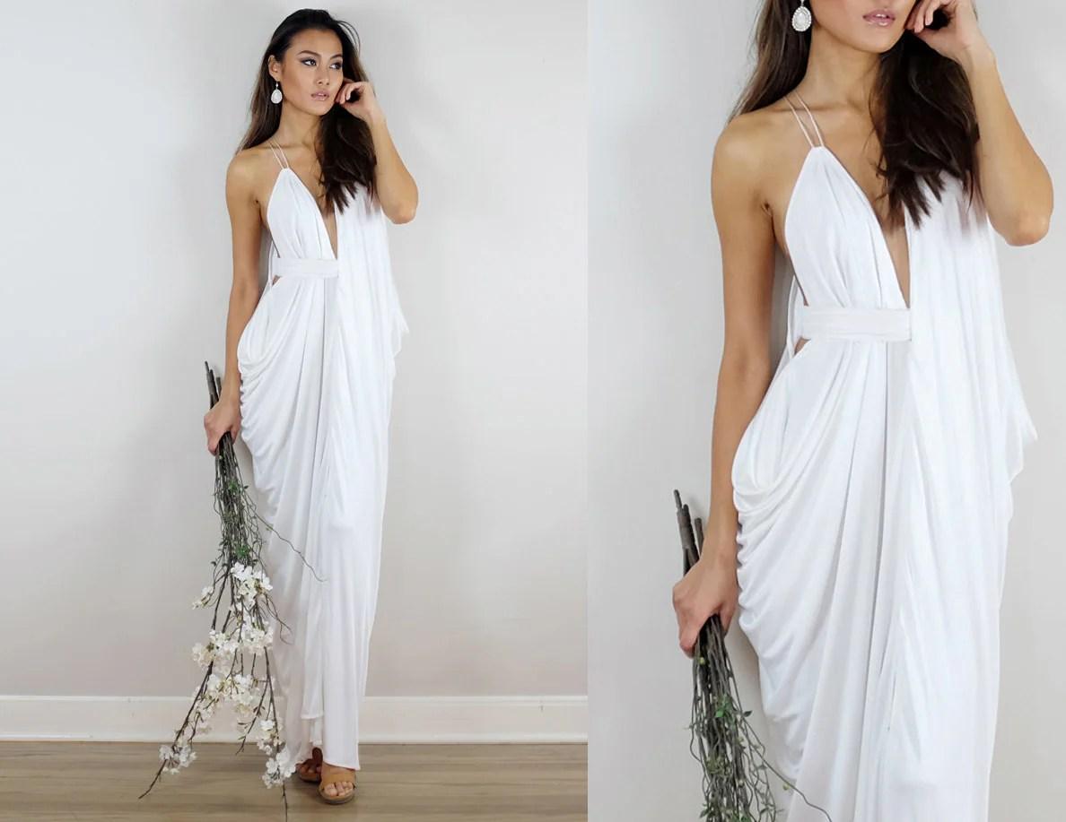 Ivory Wedding Dress Grecian Wedding Dress Ivory Gown Ivory