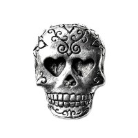 Day of the Dead Skull Lapel Pin Tie Tack Valentine's