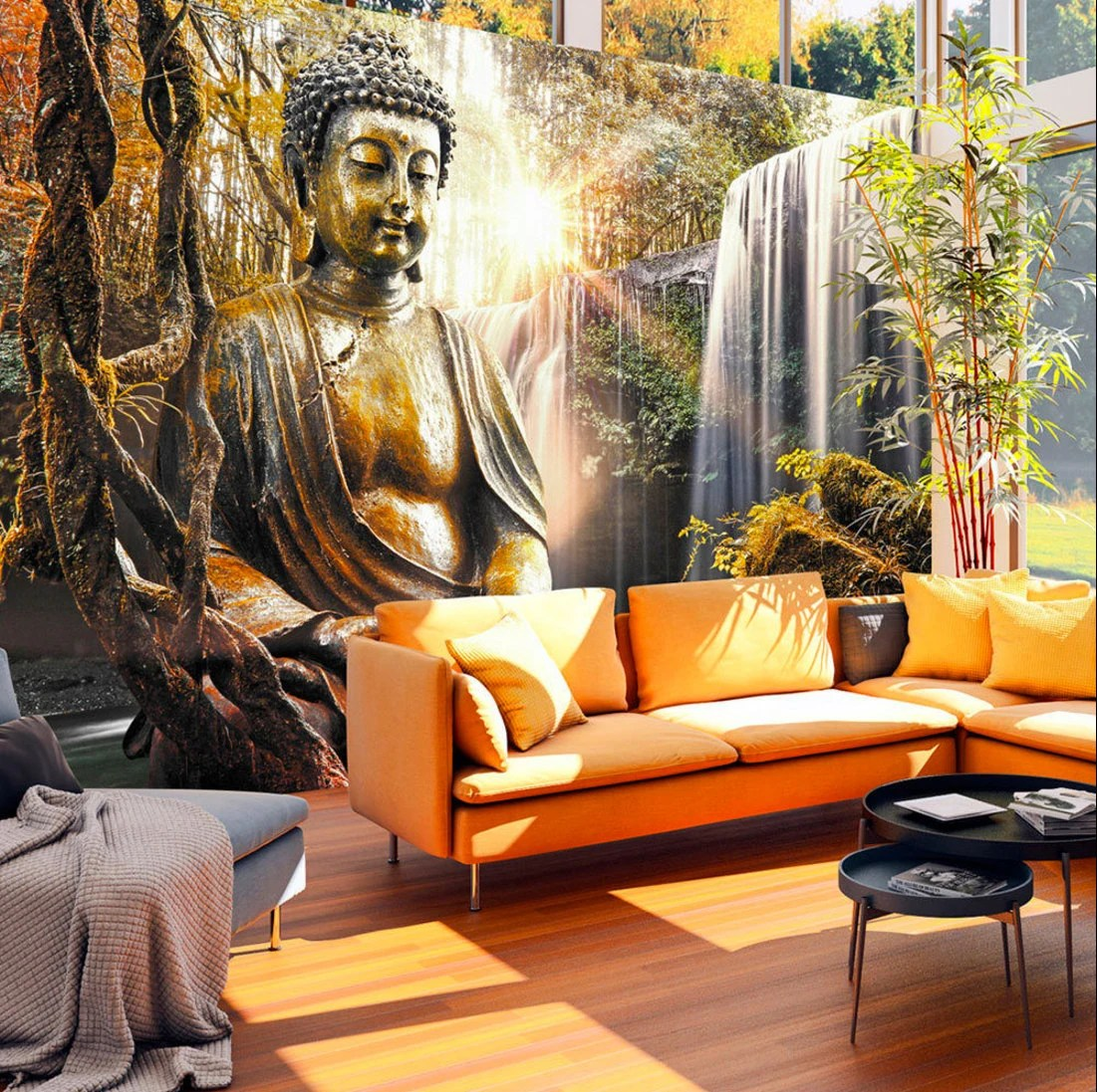 Create Own 3d Name Wallpaper Photo Wallpaper Wall Murals Non Woven 3d Modern Art Buddha