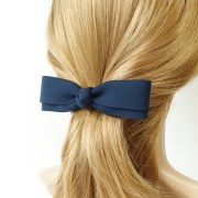 long and thin hair bow french barrettes