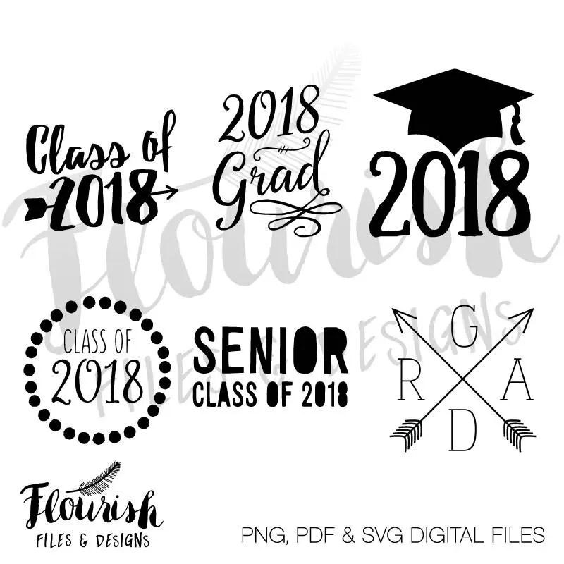 Class of 2018 Digital Cut Files SVG PNG PDF Digital