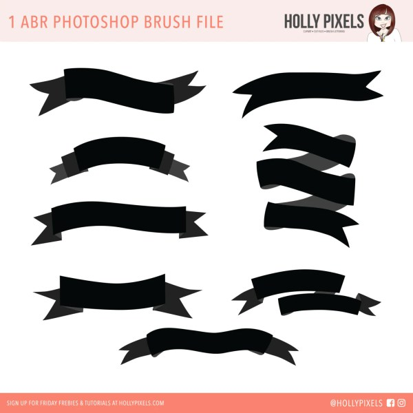 Ribbon Banner Photoshop Brushes Imgurl