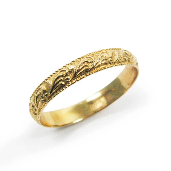 Women wedding ring wedding band wedding ring yellow gold