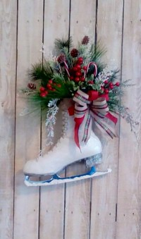 Christmas Ice Skate Holiday Decoration Door by ...
