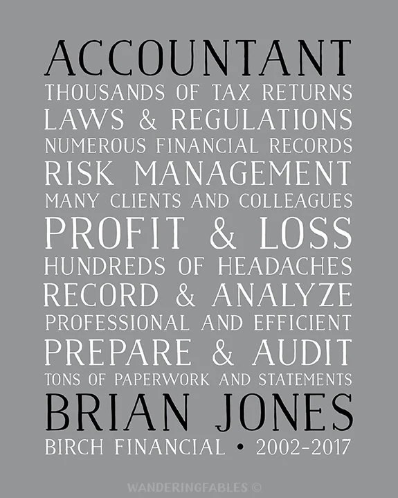 Accountant Gifts, Gift for CPA, Taxes, Retirement Gift
