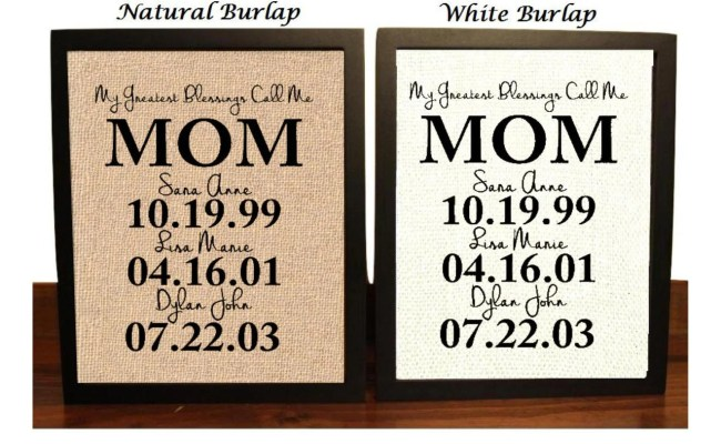 Personalized Gift For Mom Mothers Day Gift From Kids Gifts
