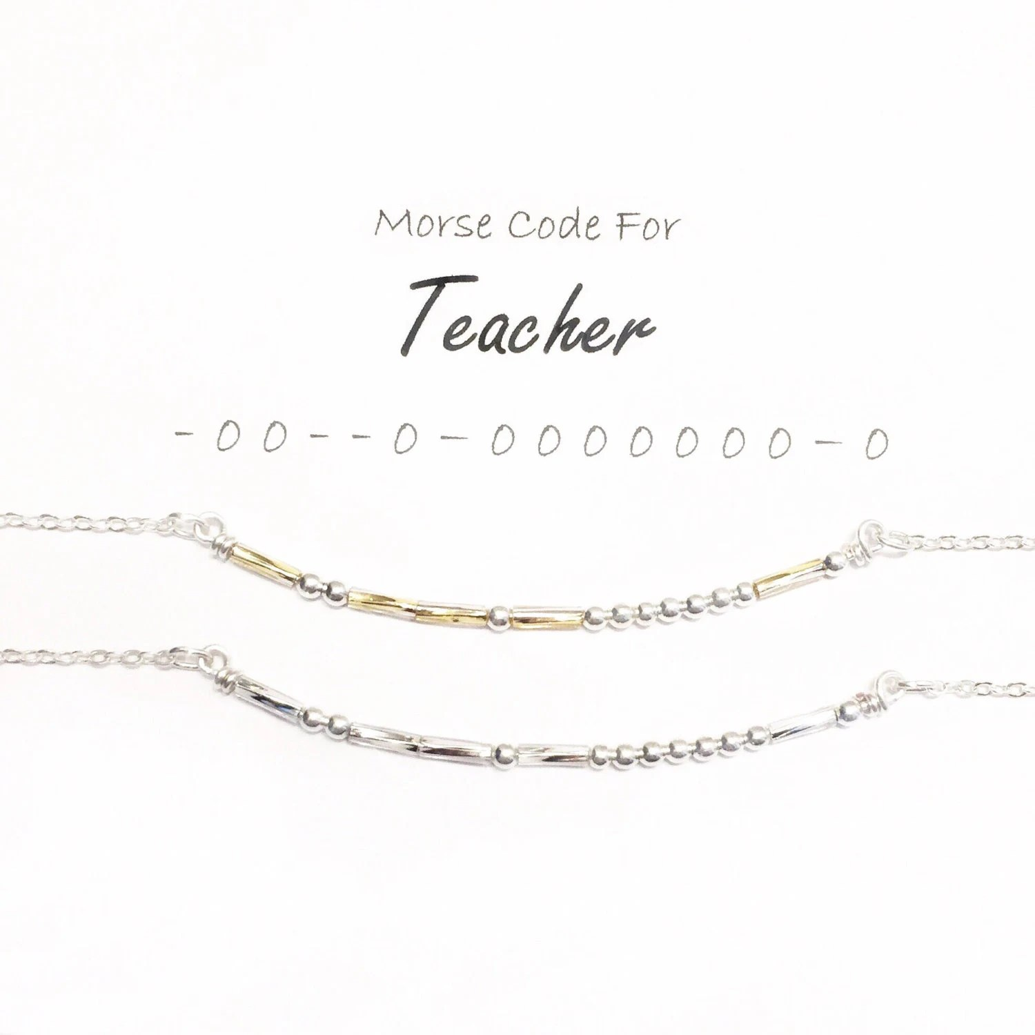 Morse Code Necklace Best Friend Necklace Dots and Dashes