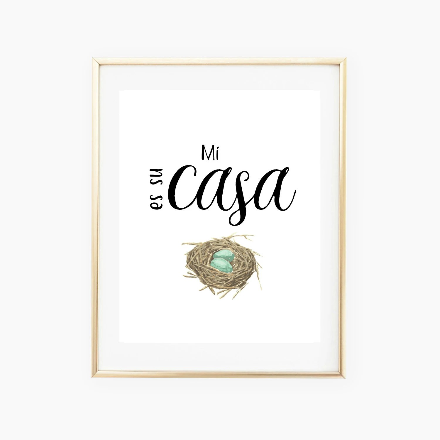 Mi casa es su casa Printable Wall Art Spanish Prints Spanish