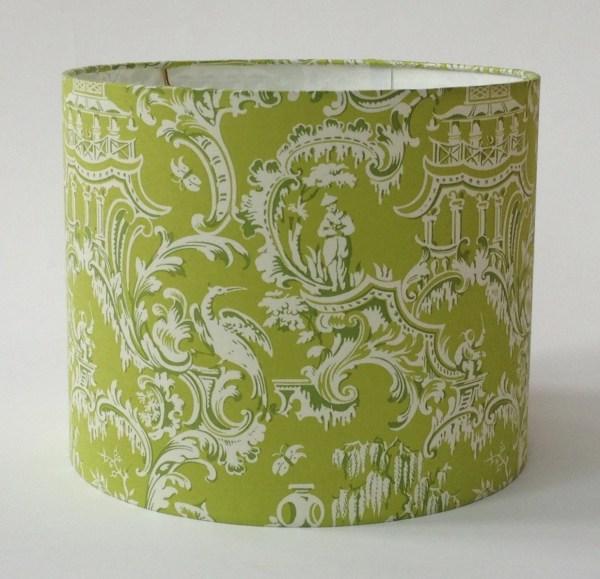 Lime Green Chinoiserie Lamp Shade 12 Diameter X 10