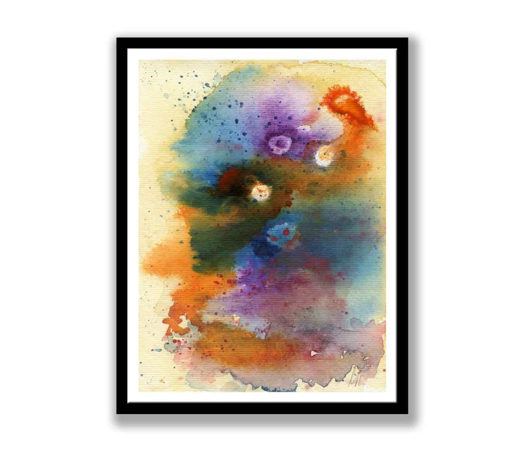 Abstract Watercolor Paint...