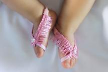 Pink Newborn Sandals Barefoot Baby