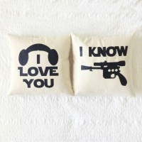 Star Wars I Love You/I Know Pillow Set Han Solo