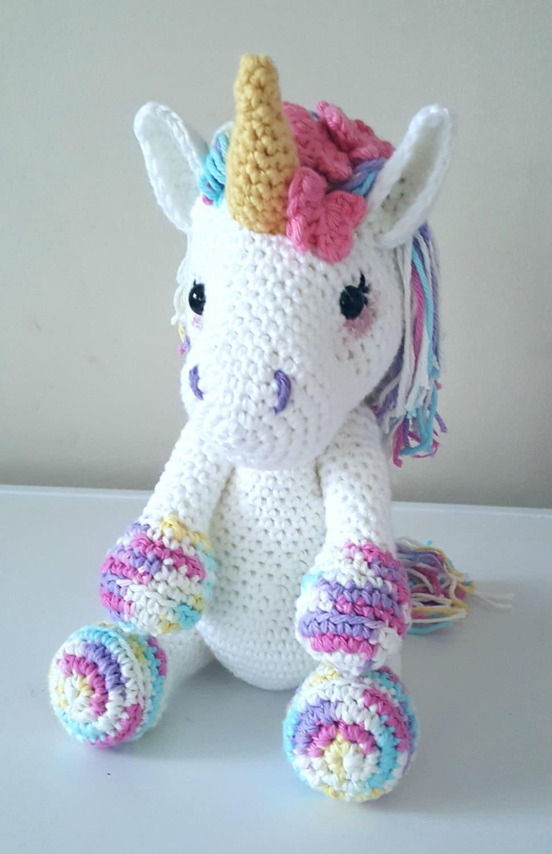 lavender unicorn crochet pattern by stitchwitchcreations