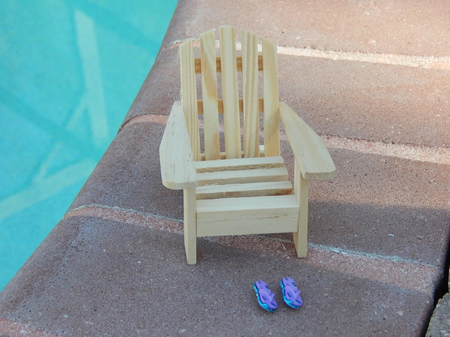 miniature adirondack chairs beach chair unfinished wedding topper fairy