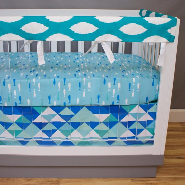 Fish Crib Bedding Baby Ocean Boy Nursery
