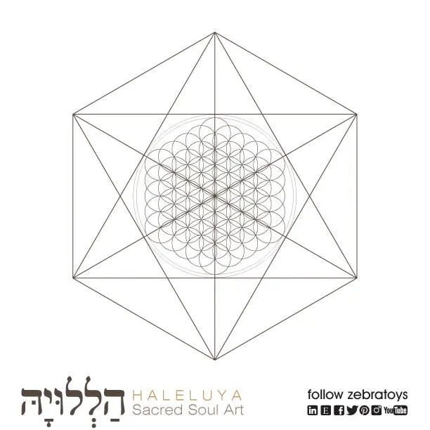 Octahedrons Flower of Life-Sacred Geometry Symbol-Coloring