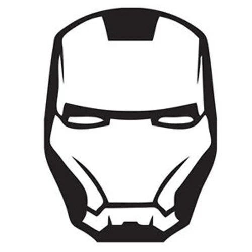 Vinyl Decal Sticker Ironman Mask Decal for Windows Cars