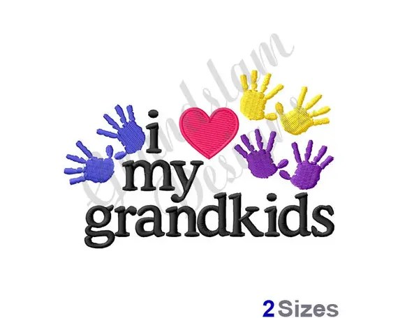 Download Love My Grandkids - Machine Embroidery Design from ...