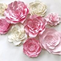 Pink Paper Flower Wall Decor large paper flower backdrop