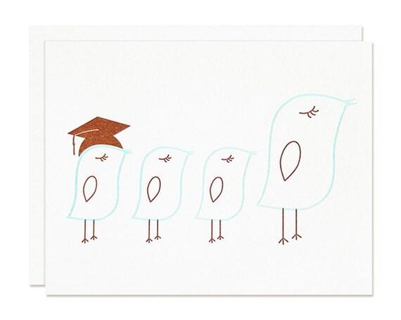 Little Chick Graduation Card Congratulations by