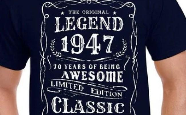 Born 1947 Tshirt Etsy