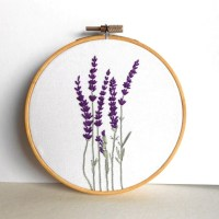 Flower Embroidery Hoop Art Floral Wall Art Rustic Home Decor