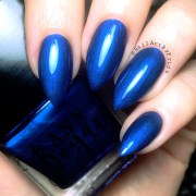 midnight blue navy nail polish