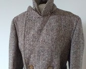 Tweed herringbone woolen ...