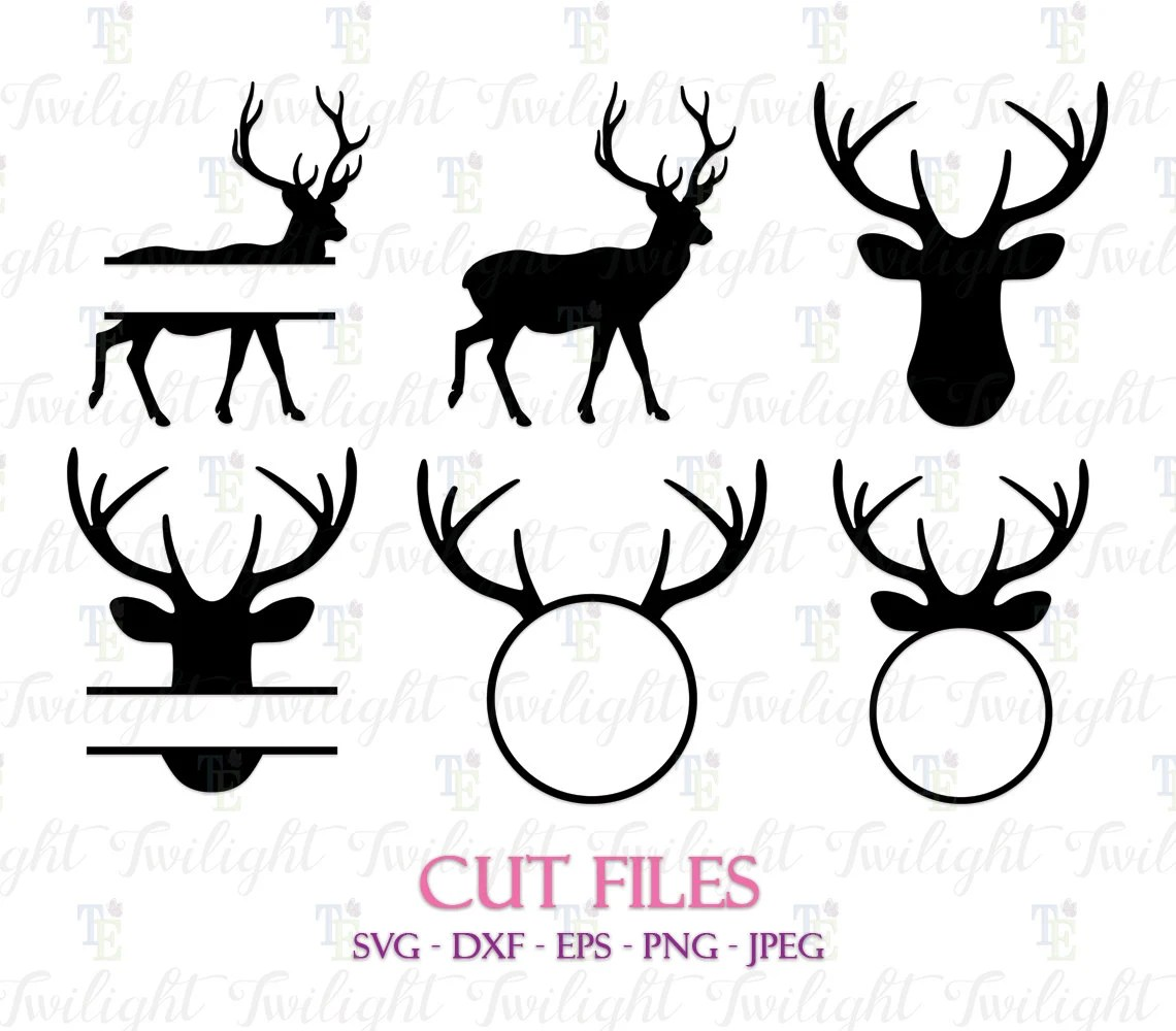 Download Deer Cut Files Deer SVG Cut Files Deer DXF Cut Files Deer