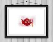 Teapot Art Print - Alcoho...