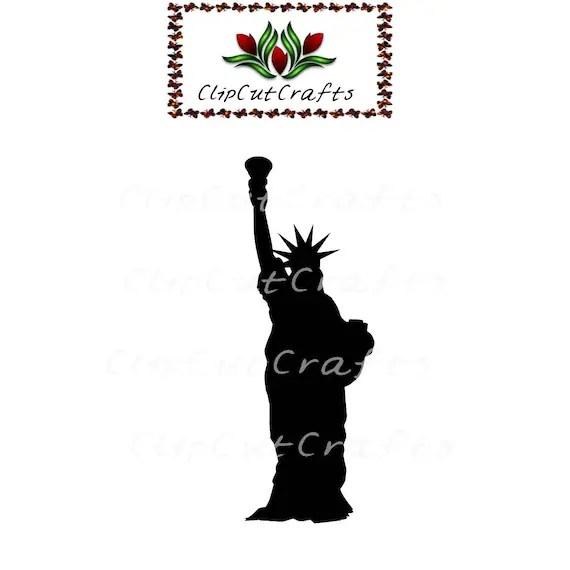 Statue of Liberty usa Silhouette Design Icon Cut File