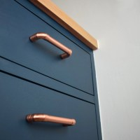 Modern Proper Copper Pull. Contemporary Drawer Handle. Drawer