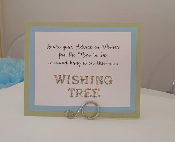Baby Shower Wishing Tree Sign And Activity For Guests To Write