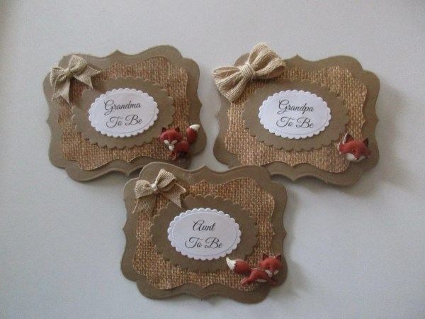 Set-fox Guest Baby Shower Corsage Mommy