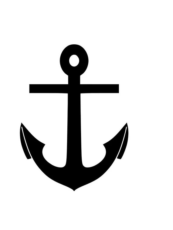 Download Boat anchor outline SVG Digital Download Cuttable Files Cricut