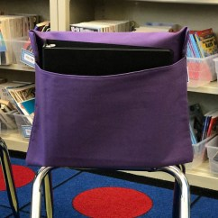 Classroom Chair Covers With Pocket Conference Table And Chairs 1 Purple Pockets Seat Sacks Desk Organizer