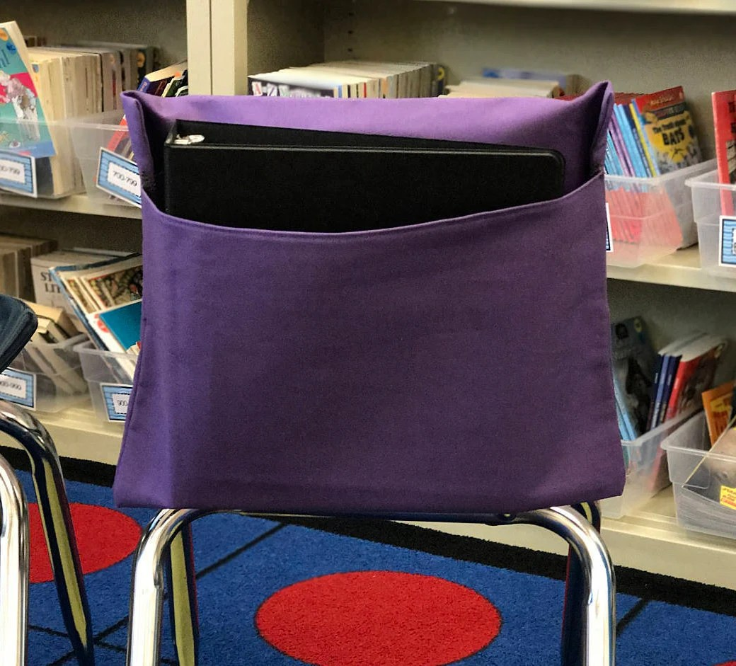 Chair Pockets For Classrooms 1 Purple Classroom Chair Pockets Seat Sacks Desk Organizer