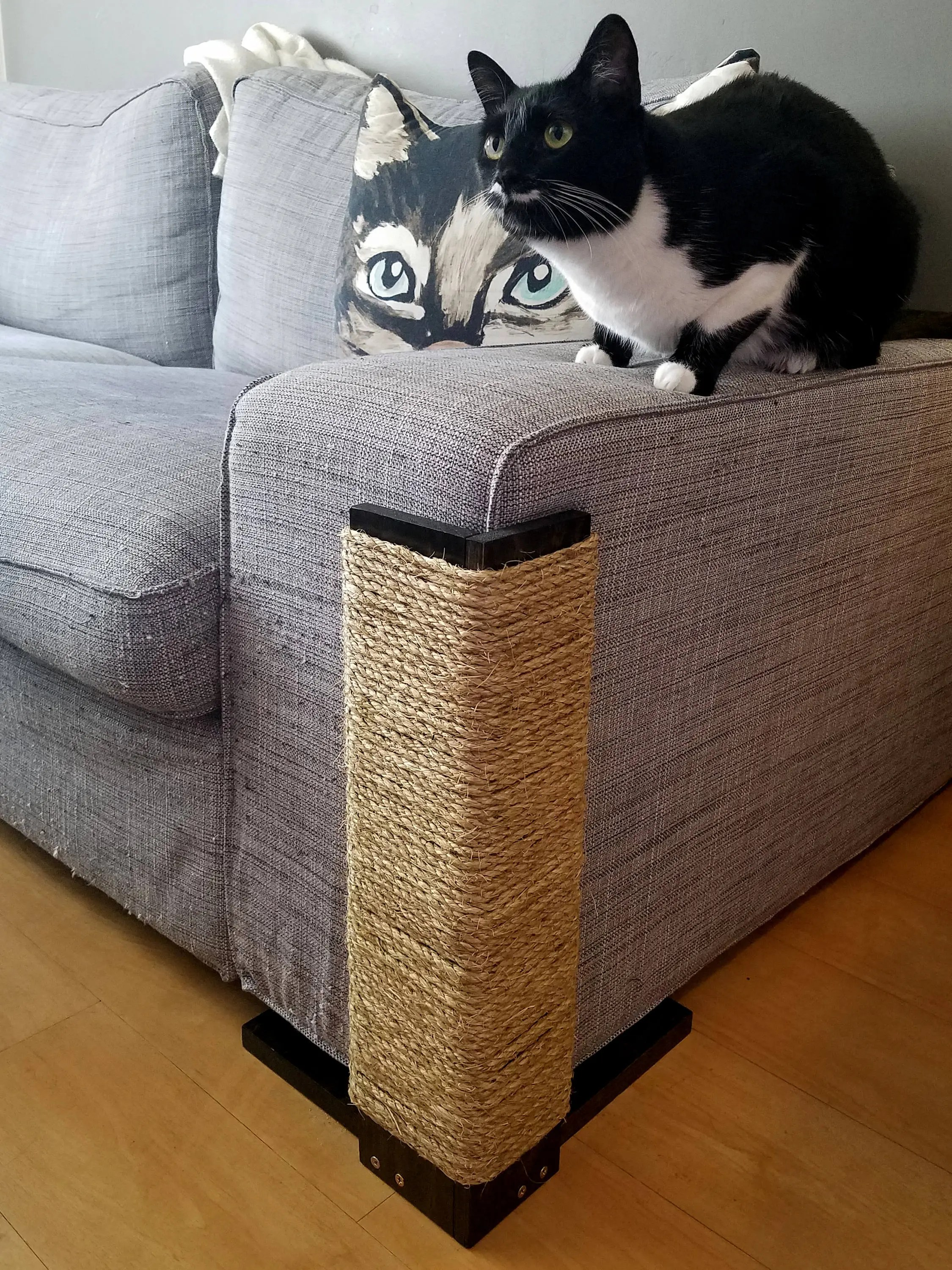how to make a sofa bed from scratch hamilton and leather gallery review couch corner cat scratching post 18 24 inches tall stained