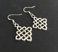 Items similar to Celtic Knot Earrings, Chinese Knot