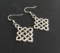 Items similar to Celtic Knot Earrings, Chinese Knot ...