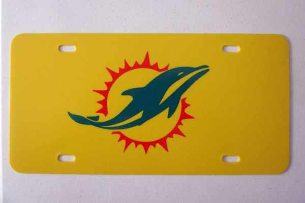 Miami Dolphins License Plate Logo