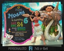 Moana Birthday Party Invitations Printable