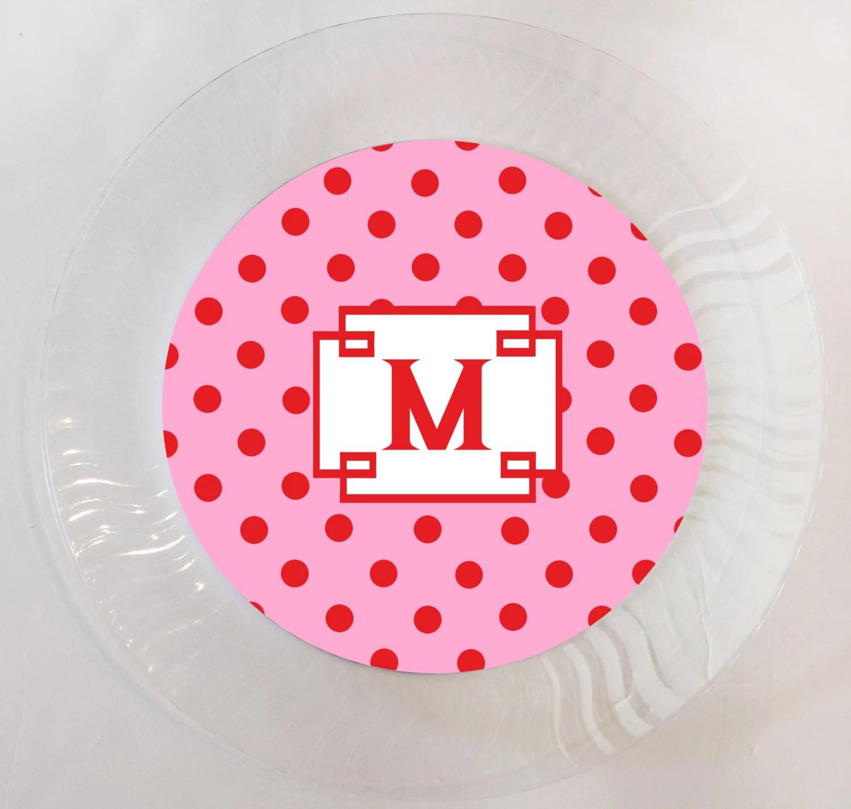 Polka Dot Plastic Plates & Kaxima Melamine Polka Dots Red