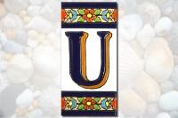 4 Mosaic ceramic letter tile Handmade ceramic letter