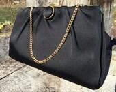 Vintage Black Silk Clutch...