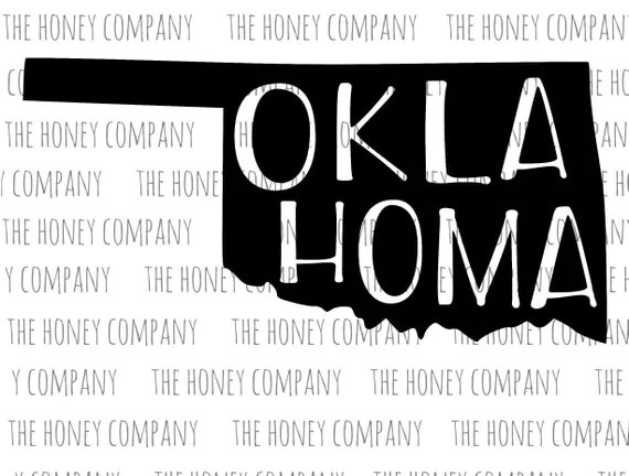 Oklahoma Svg Dxf State Outline Instant Download Silhouette