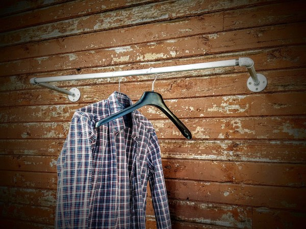 Galvanized Clothes Rail Wall Mounted Rack Cloth