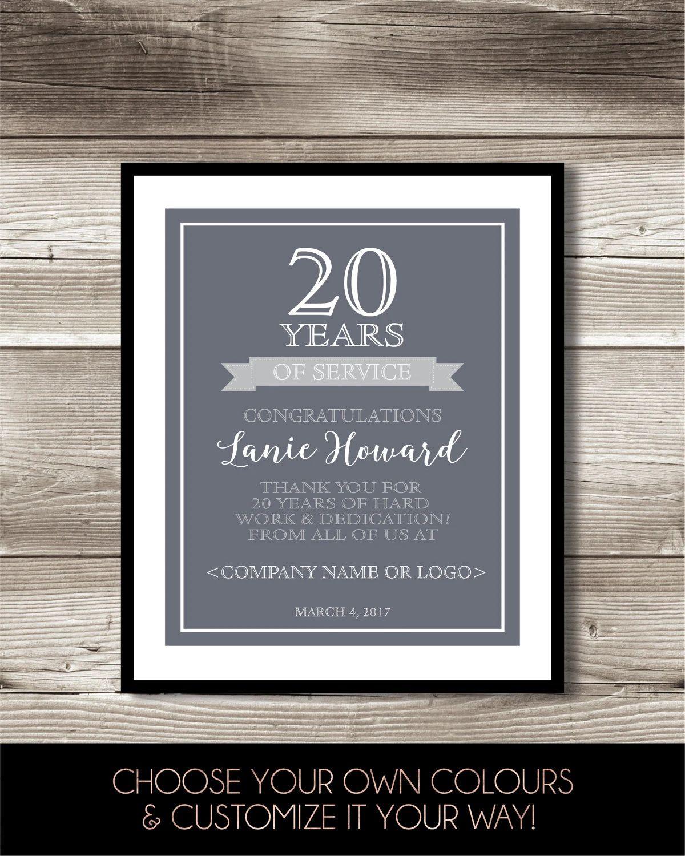 employment anniversary card