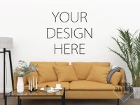 Mockup Blank Wall Art Mockup Empty Wall Mock Living Room